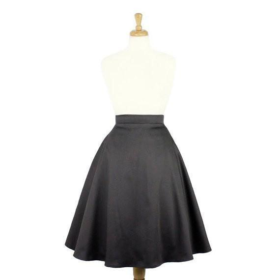 Hemet Circle Skirt in Gray-Skirts-Glitz Glam and Rebellion GGR Pinup, Retro, and Rockabilly Fashions