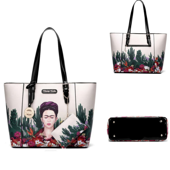 Frida Khalo Tote Style Purse-Purses-Glitz Glam and Rebellion GGR Pinup, Retro, and Rockabilly Fashions