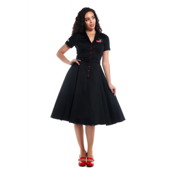 Collectif True Love Swing Dress-Dress-Glitz Glam and Rebellion GGR Pinup, Retro, and Rockabilly Fashions