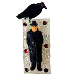 Homies Crow Brooch-Aye Que Chula-Glitz Glam and Rebellion GGR Pinup, Retro, and Rockabilly Fashions