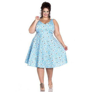 Hell Bunny Daphne Dress-Dress-Glitz Glam and Rebellion GGR Pinup, Retro, and Rockabilly Fashions