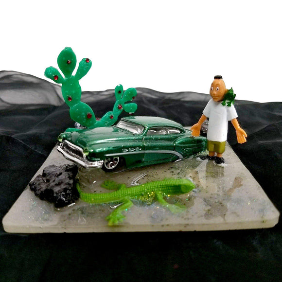 Homies Desert Lizard Diorama-Aye Que Chula-Glitz Glam and Rebellion GGR Pinup, Retro, and Rockabilly Fashions