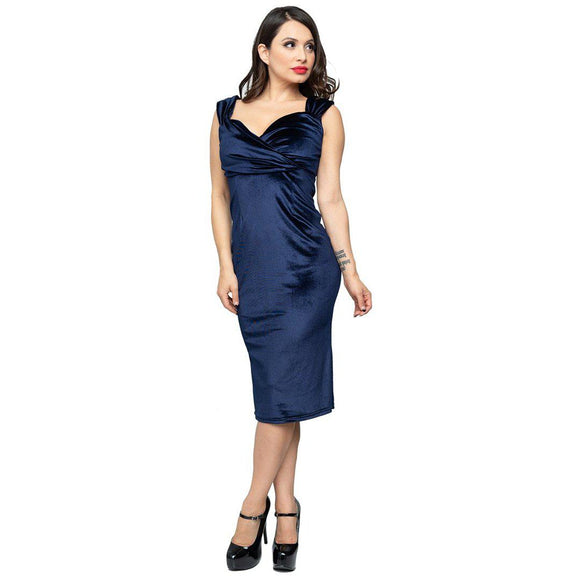Steady Diva Wiggle in Gucci Blue-Wiggle Dress-Glitz Glam and Rebellion GGR Pinup, Retro, and Rockabilly Fashions