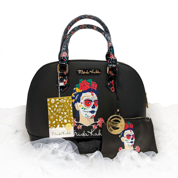 Frida Kahlo Sugar Skull Purse-Purses-Glitz Glam and Rebellion GGR Pinup, Retro, and Rockabilly Fashions