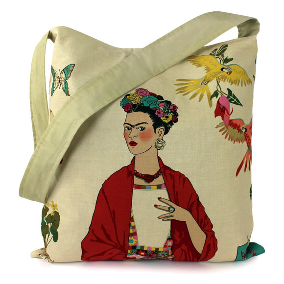 Hemet Frida Tote Bag in Coffee-Purses-Glitz Glam and Rebellion GGR Pinup, Retro, and Rockabilly Fashions