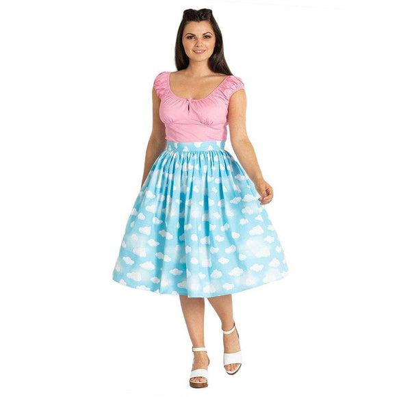 Hell Bunny Daydream 50's Skirt-Skirts-Glitz Glam and Rebellion GGR Pinup, Retro, and Rockabilly Fashions