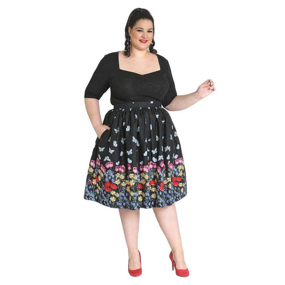 Hell Bunny Meadow 50's Skirt-Skirts-Glitz Glam and Rebellion GGR Pinup, Retro, and Rockabilly Fashions