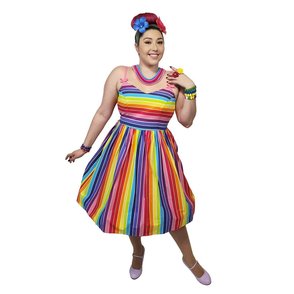 Hell Bunny Over the Rainbow Dress-Dress-Glitz Glam and Rebellion GGR Pinup, Retro, and Rockabilly Fashions