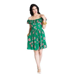 Hell Bunny Pineapple Mini Dress-Dress-Glitz Glam and Rebellion GGR Pinup, Retro, and Rockabilly Fashions