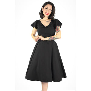 Hemet Butterfly Swing Dress in Black-Dress-Glitz Glam and Rebellion GGR Pinup, Retro, and Rockabilly Fashions