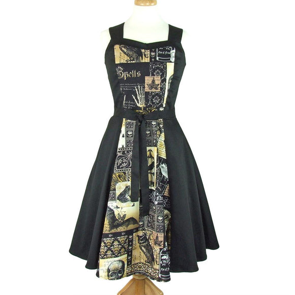 Hemet Edgar Allan Poe Swing Dress-Dress-Glitz Glam and Rebellion GGR Pinup, Retro, and Rockabilly Fashions