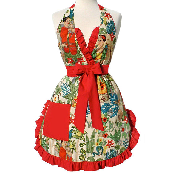 Hemet Frida Vintage-Inspired Apron-Pinup Aprons-Glitz Glam and Rebellion GGR Pinup, Retro, and Rockabilly Fashions