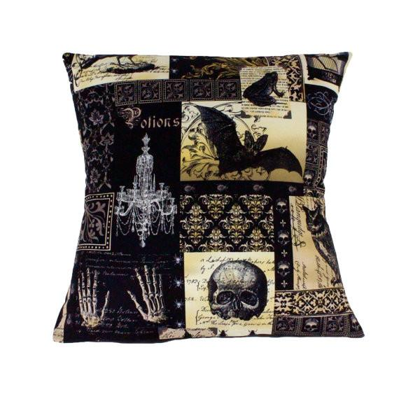 Hemet Pillow Cover in Edgar Allen Poe Print-Pillow Cover-Glitz Glam and Rebellion GGR Pinup, Retro, and Rockabilly Fashions