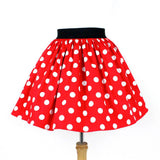 Hemet Pleated Skirt in Red & White Polka Dot-Skirts-Glitz Glam and Rebellion GGR Pinup, Retro, and Rockabilly Fashions
