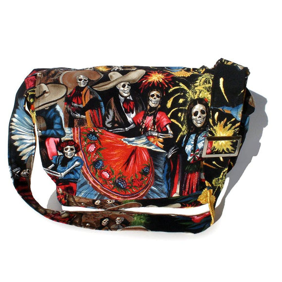 Hemet San Marcos Messenger Bag-Purses-Glitz Glam and Rebellion GGR Pinup, Retro, and Rockabilly Fashions