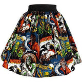 Hemet Skirt in Monster Mash Print-Skirts-Glitz Glam and Rebellion GGR Pinup, Retro, and Rockabilly Fashions