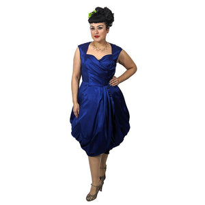 GGR Night at the Opera Dress in Cobalt Blue-Dress-Glitz Glam and Rebellion GGR Pinup, Retro, and Rockabilly Fashions