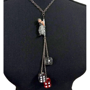 Homies Chained Necklace-Aye Que Chula-Glitz Glam and Rebellion GGR Pinup, Retro, and Rockabilly Fashions