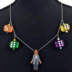 Homies Clowning Around Necklace-Aye Que Chula-Glitz Glam and Rebellion GGR Pinup, Retro, and Rockabilly Fashions