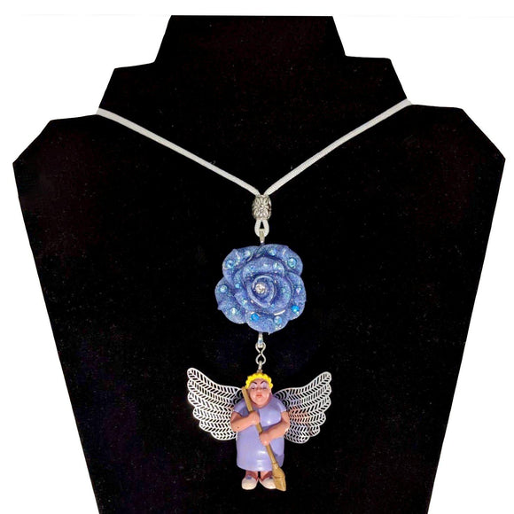 Homies Angel Mama Necklace-Aye Que Chula-Glitz Glam and Rebellion GGR Pinup, Retro, and Rockabilly Fashions