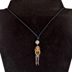 Homies Night Woman Necklace-Aye Que Chula-Glitz Glam and Rebellion GGR Pinup, Retro, and Rockabilly Fashions