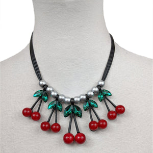 Hypnotic Cherry Necklace-Jewelry-Glitz Glam and Rebellion GGR Pinup, Retro, and Rockabilly Fashions