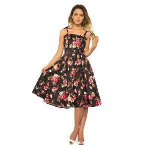H&R London Kaya Floral Print Sundress-Dress-Glitz Glam and Rebellion GGR Pinup, Retro, and Rockabilly Fashions