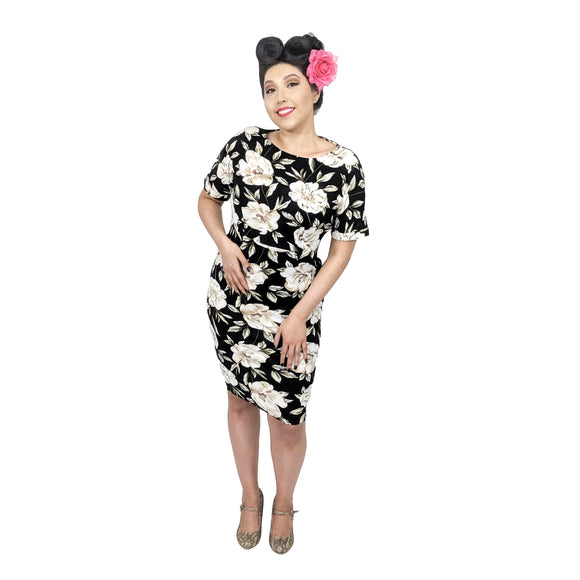 GGR Magnolia Wiggle Dress-Wiggle Dress-Glitz Glam and Rebellion GGR Pinup, Retro, and Rockabilly Fashions