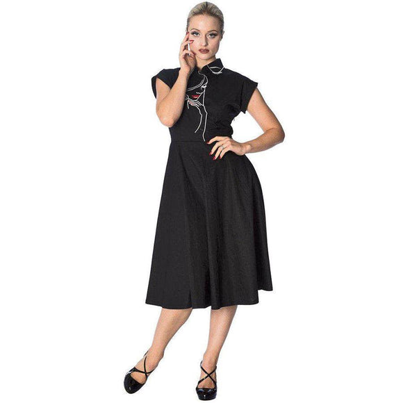Banned Model Face Dress-Dress-Glitz Glam and Rebellion GGR Pinup, Retro, and Rockabilly Fashions
