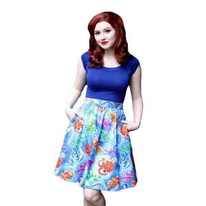 Retrolicious Octopus Skirt-Skirts-Glitz Glam and Rebellion GGR Pinup, Retro, and Rockabilly Fashions