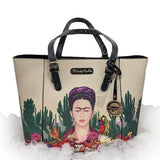 Frida Kahlo Tote Style Purse-Purses-Glitz Glam and Rebellion GGR Pinup, Retro, and Rockabilly Fashions