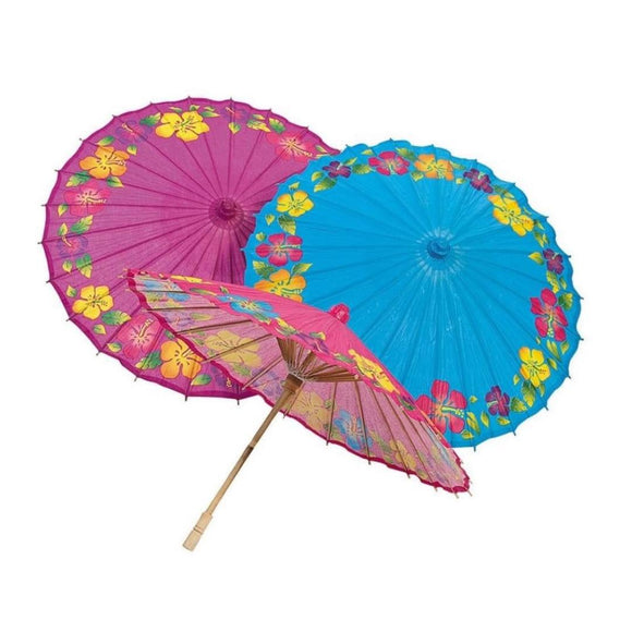 Hibiscus 🌺 Print Parasols-Parasol-Glitz Glam and Rebellion GGR Pinup, Retro, and Rockabilly Fashions