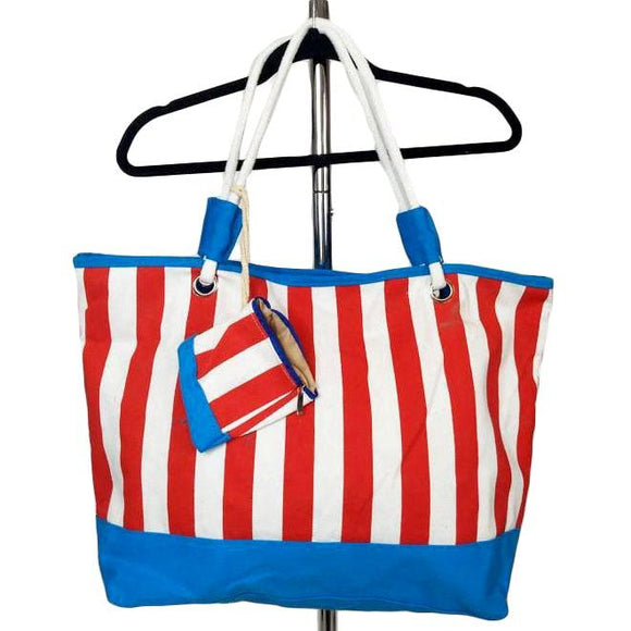 Red White and Blue Tote-Purses-Glitz Glam and Rebellion GGR Pinup, Retro, and Rockabilly Fashions