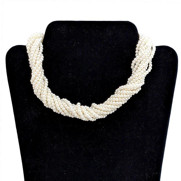 Tatyana Jewelry Multi-Strand Pearl Necklace in White-Jewelry-Glitz Glam and Rebellion GGR Pinup, Retro, and Rockabilly Fashions