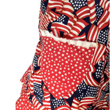 "GGR Pinup Apron ""Pretty Patriotic Stars N Stripes""-Pinup Aprons-Glitz Glam and Rebellion GGR Pinup, Retro, and Rockabilly Fashions"