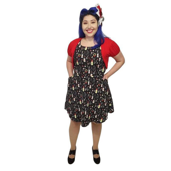 Retrolicious Festive Skater Dress-Dress-Glitz Glam and Rebellion GGR Pinup, Retro, and Rockabilly Fashions