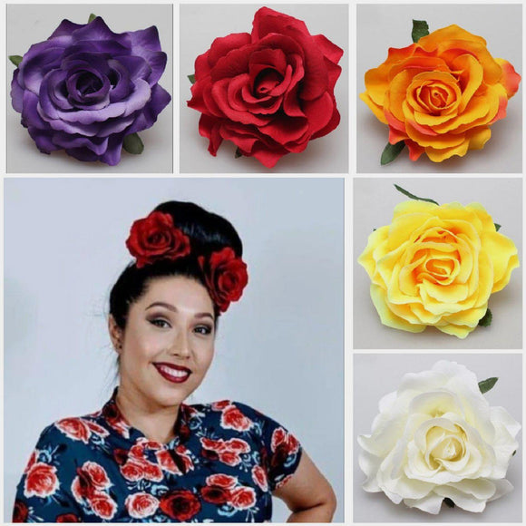 GGR Roses Hair Flower Set 1-Hair Accessory-Glitz Glam and Rebellion GGR Pinup, Retro, and Rockabilly Fashions