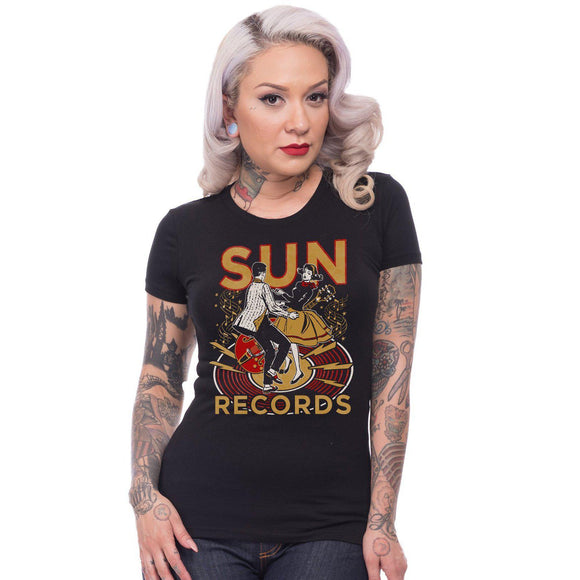 Steady Sun Records Lindy Hop Tee-Tee-Glitz Glam and Rebellion GGR Pinup, Retro, and Rockabilly Fashions