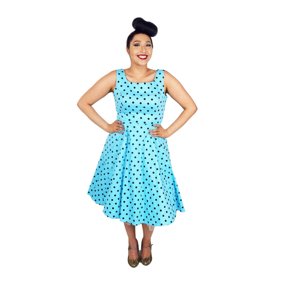 H&R London Caprice Swing Dress-Dress-Glitz Glam and Rebellion GGR Pinup, Retro, and Rockabilly Fashions