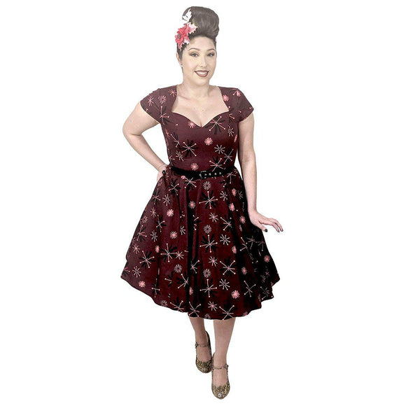 GGR Retro Atomic Burst Dress-Dress-Glitz Glam and Rebellion GGR Pinup, Retro, and Rockabilly Fashions