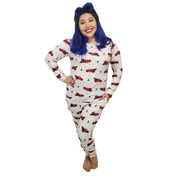 Santa's Christmas Truck PJ's-Pajamas-Glitz Glam and Rebellion GGR Pinup, Retro, and Rockabilly Fashions