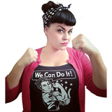 GGR We Can Do It Tank Top-Tank Top-Glitz Glam and Rebellion GGR Pinup, Retro, and Rockabilly Fashions