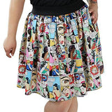 Hemet Pleated Skirt in Sewing Woes Comic Print-Skirts-Glitz Glam and Rebellion GGR Pinup, Retro, and Rockabilly Fashions