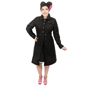 Banned Sherlock Trench Coat-Coat-Glitz Glam and Rebellion GGR Pinup, Retro, and Rockabilly Fashions