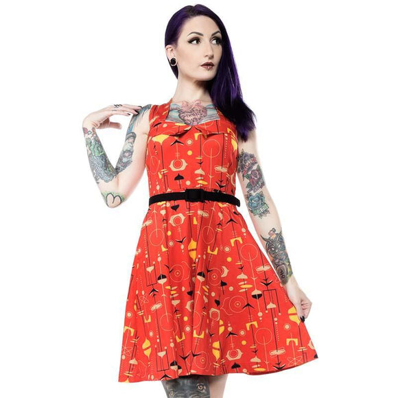 Sourpuss Midcentury Veronica Dress-Dress-Glitz Glam and Rebellion GGR Pinup, Retro, and Rockabilly Fashions