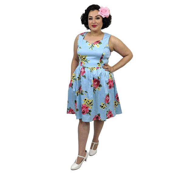 Eva Rose Spring Swing Dress-Dress-Glitz Glam and Rebellion GGR Pinup, Retro, and Rockabilly Fashions