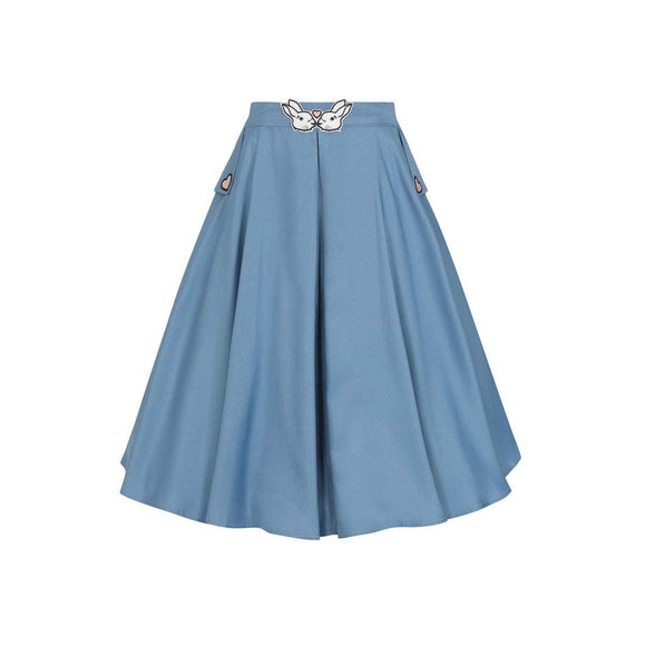 Copy of Banned Bunny Hop Skirt in Blue-Skirts-Glitz Glam and Rebellion GGR Pinup, Retro, and Rockabilly Fashions