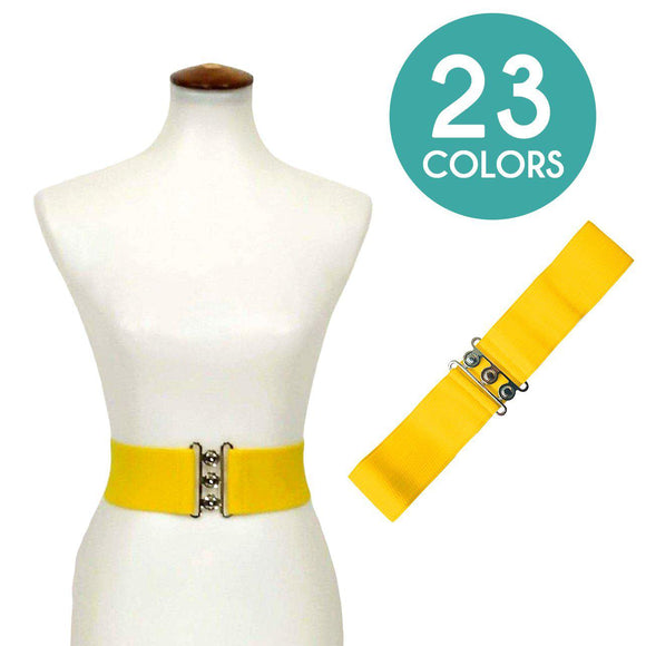 Banned Stretch Belt (23 Colors!)-Belts-Glitz Glam and Rebellion GGR Pinup, Retro, and Rockabilly Fashions