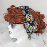 Sugar Skull Headscarf-Hair Accessory-Glitz Glam and Rebellion GGR Pinup, Retro, and Rockabilly Fashions