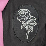 GGR Logo Bowling Shirt in Pink and Black-Shirts-Glitz Glam and Rebellion GGR Pinup, Retro, and Rockabilly Fashions